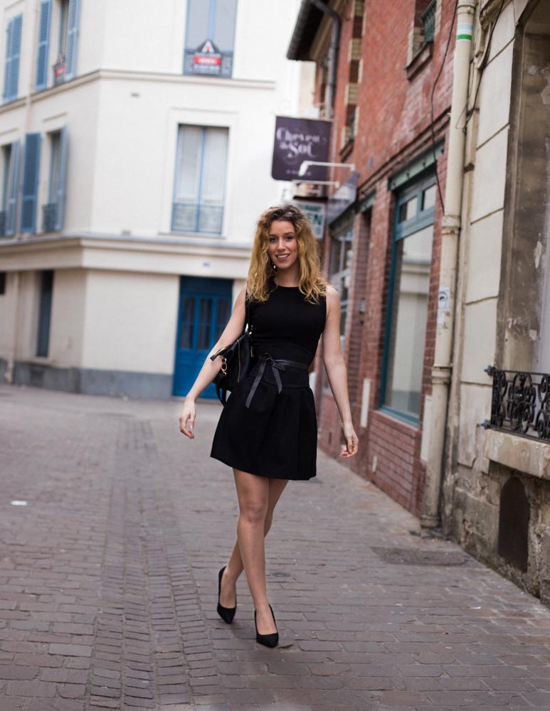 Ceinture corsetée noire