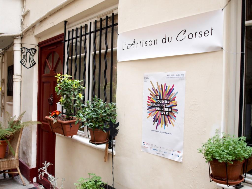 Atelier de corset - Journées Européennes des Métiers d'Art 2016